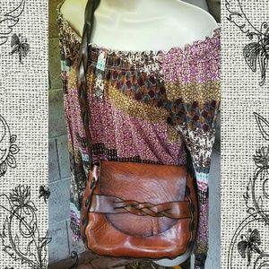 Vintage 1970's Leather Bag